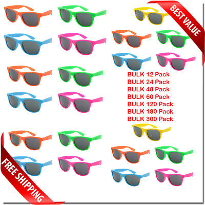 SUNGLASSES CLASSIC RETRO COLORFUL STYLE NEW BULK WHOLESALE LOT PARTY GLASSES  (Bulk Plastic Sunglasses)