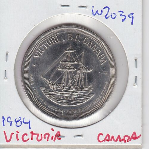 KAPPY W2039 1984 VICTORIA BC  CANADA GOOD FOR ONE DOLLAR IN TRADE CH BU TOKEN