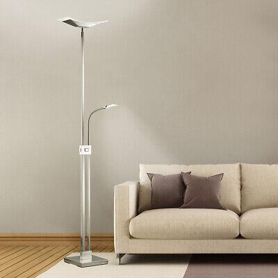LED Stehleuchte 2900Lumen Stehlampe Leseleuchte Deckenfluter Glas Dimmbar ST16