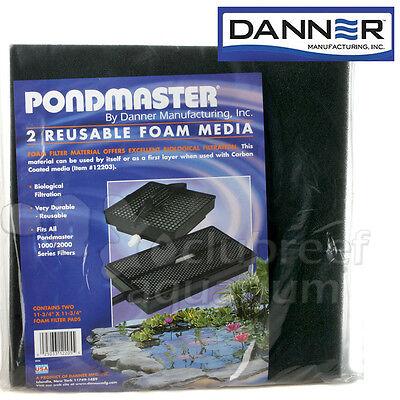 """Foam Media Filter Pad Pondmaster 1000 2000 Danner Pond Supreme 11-3/4"""" 2 Pack"""