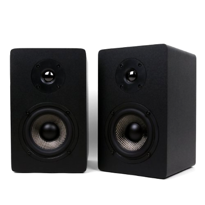 Micca MB42X Bookshelf Speakers with 4-Inch Carbon Fiber Woofer and Silk Dome ...