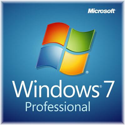 Microsoft Windows 7 Professional Sp1 64 Bit Dvd   Genuine Product Key   Coa