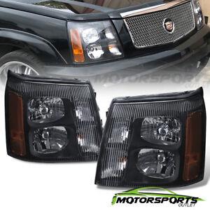2003 2004 2005 2006 Cadillac Escalade Factory HID Model Black Headlights  Pair