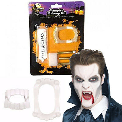 Child Girls Boys Halloween Vampire Make Up Kit Dracula Face Paint  Fancy Dress (Girl Halloween Vampire Makeup)