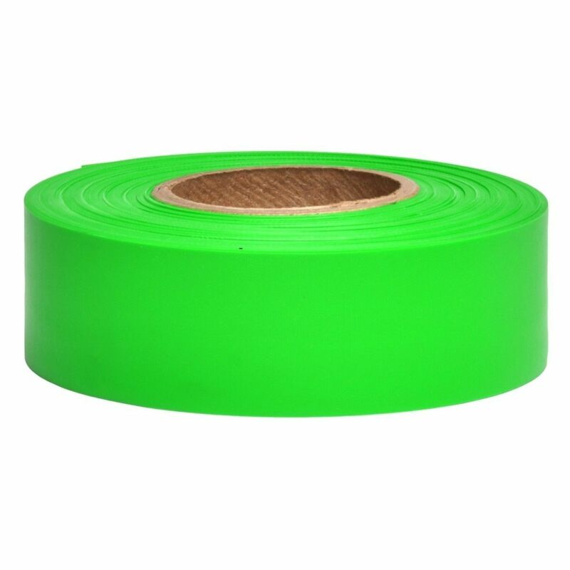 Merco M219 Glow Green Flagging Tape  1-3/16in x 150ft - 72 Roll Convenience Case