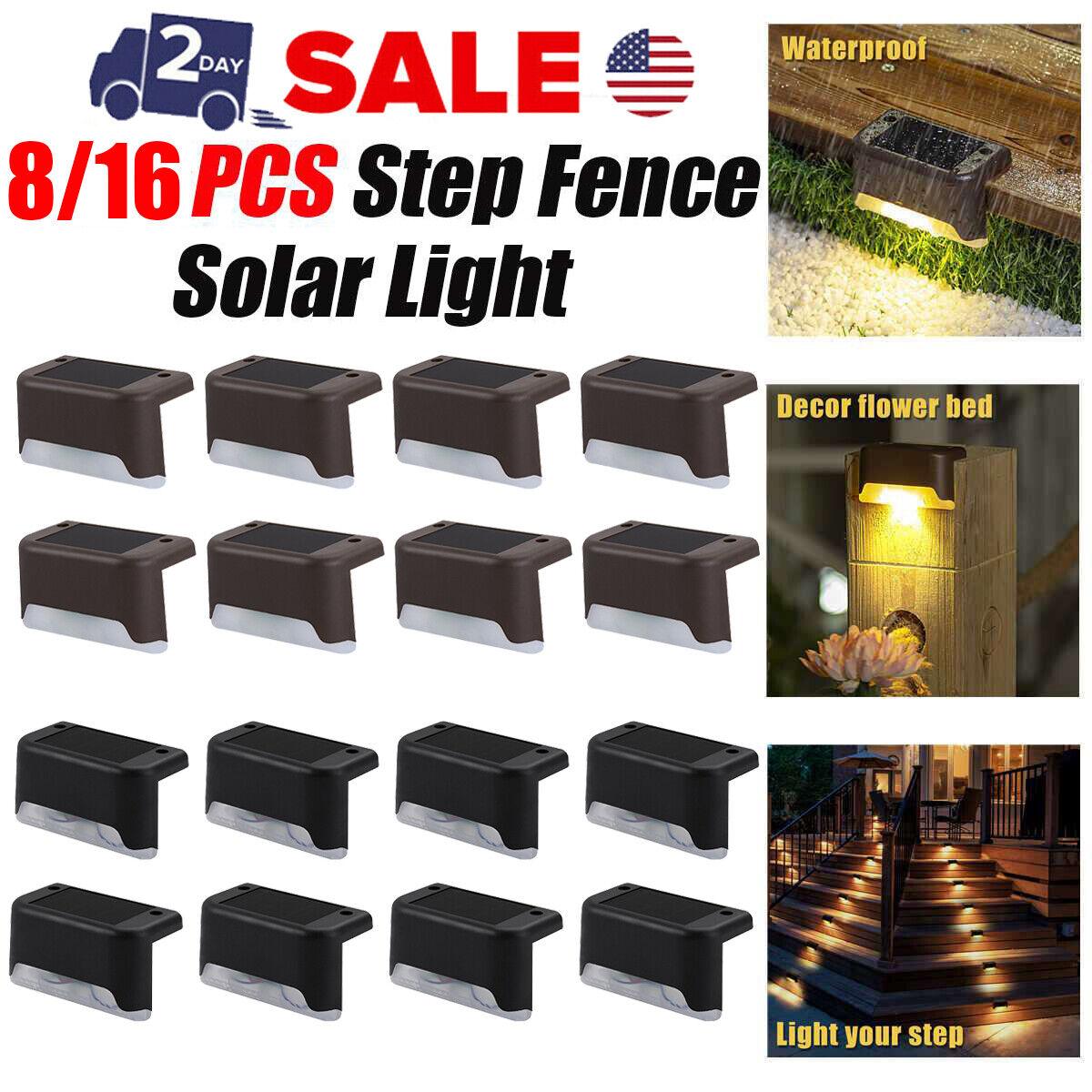 8 16pcs solar powered led deck lights