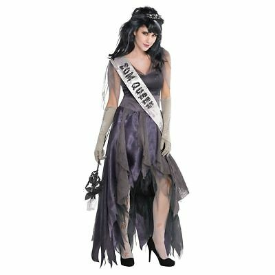 Homecoming Corpse Queen Halloween  Ladies Womens Adults Fancy Dress Costume sz - Homecoming Queen Costume