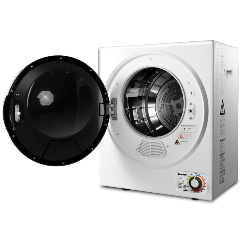 Compact Electric Tumble Laundry Dryer Multi-Function Wall Mounted 1.5 cu .ft.