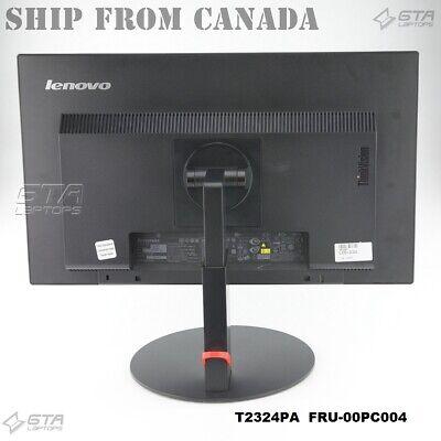 "23"" Lenovo ThinkVision T2324PA Wide LED LCD Monitor 60C7-MAR1-WW FRU-00PC004"