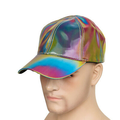 Marty McFly Rainbow Hat Baseball Cap Adjustable Back to the Future Cosplay - Marty Mcfly Cosplay