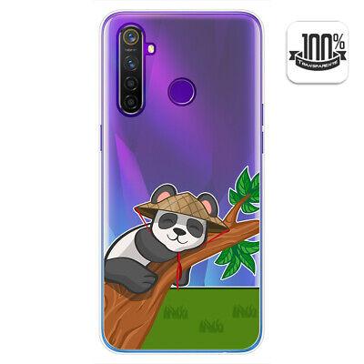 Cover Gel Trasparente per Realme 5 pro Disegno Panda Disegni