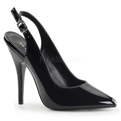 PLEASER Sexy Shoes Closed Toe Classic Black 5