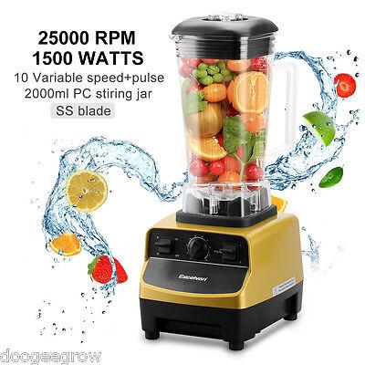 1500W Pro Commercial Food Blender Grinder Fruit Smoothie Juicer 2L Jug 25000RPM