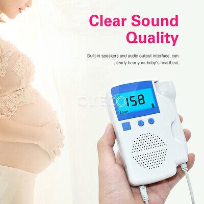 Pocket Fetal Doppler Baby Heart Beat Rate Monitor 2.53mhz Probe Pregnancy Fetus