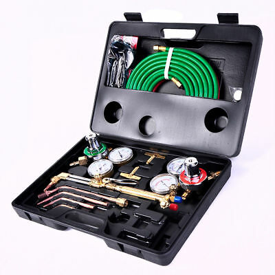 Welder Gas Welding Cutting Kit Acetylene Oxygen Torch Hose Set
