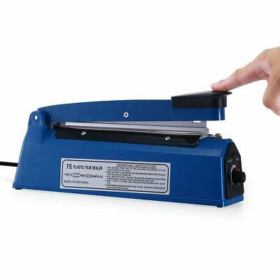 12 300mm Manual Impulse Heat Sealer Poly Bag Machine Shrink Wrap Free Element