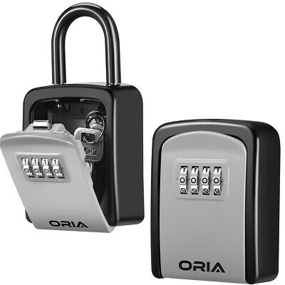 Outdoor 4digit Combination Key Lock Storage Security Boxwall Mountedpadlock
