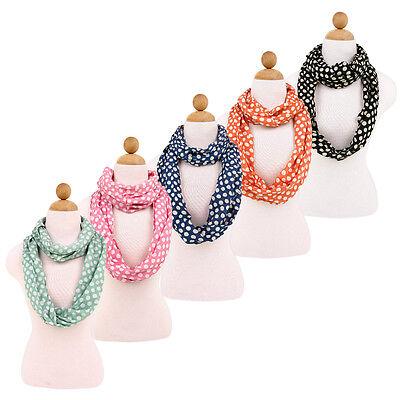Polka Dot Scarves (Premium Viscose Polka Dot Infinity Loop Fashion Scarf - Diff Colors)