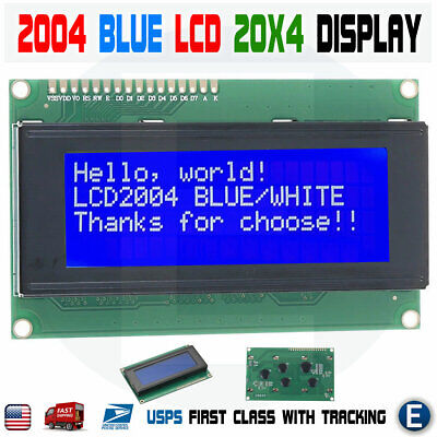Lcd 2004 Blue 20x4 Lcd2004 Character Module Display Screen For Arduino Hd44780