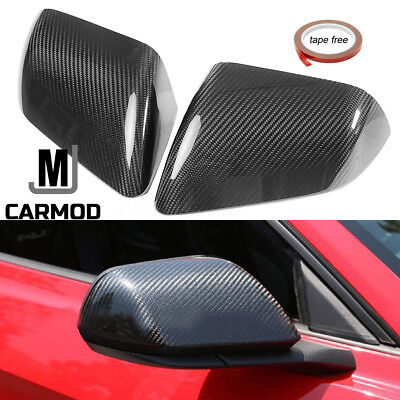 - Carbon Fiber Side Mirror Cover Fit For Ford Mustang GT COUPE 2015-2017 NO LED
