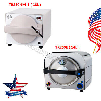 Usa Dental Autoclave Steam Sterilizer Medical Sterilization Labequipment 14l18l