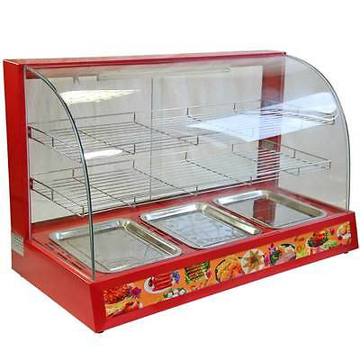 Hot Food Warmer Display Cabinet Counter Electric Pie Pasty Sausage Rolls 95cm