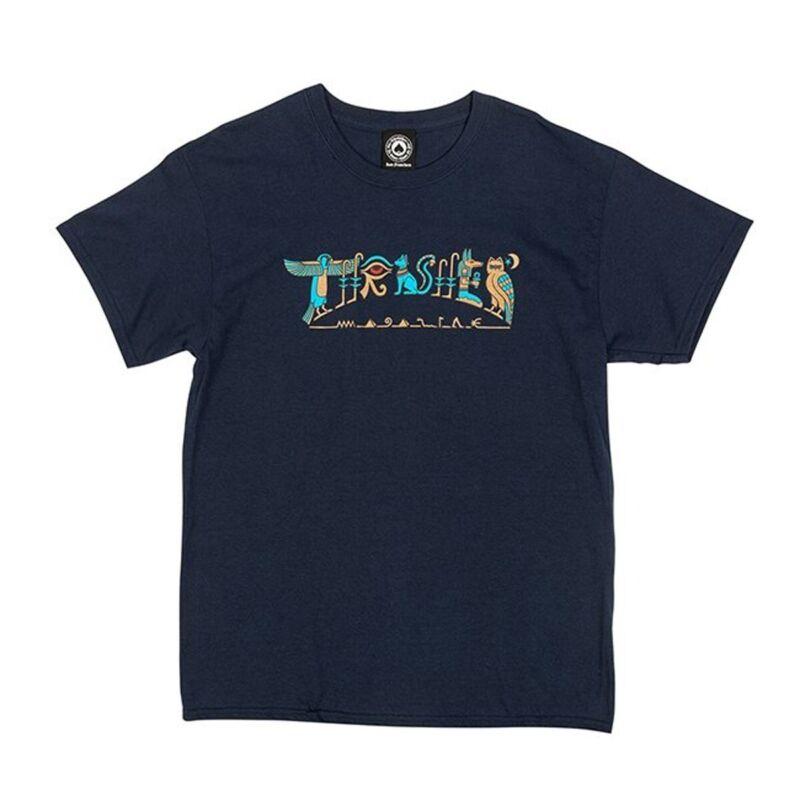 Thrasher Magazine HIEROGLYPHIC Skateboard T Shirt NAVY BLUE XL