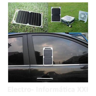 Placa Solar Cargador Flexible 10W 5V Salida USB Smartphone Ventosas Ideal Coche