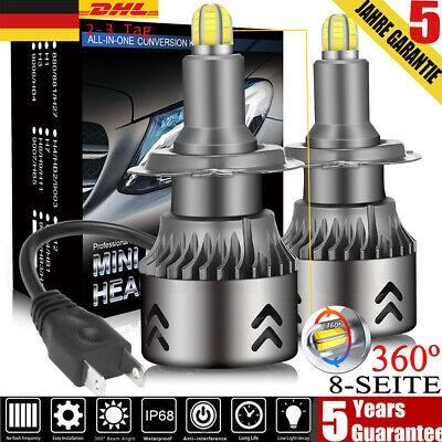 8-Seite 220W H7 Auto LED Scheinwerfer Lampen Kit 30000LM Xenon Weiß 6000K 12V