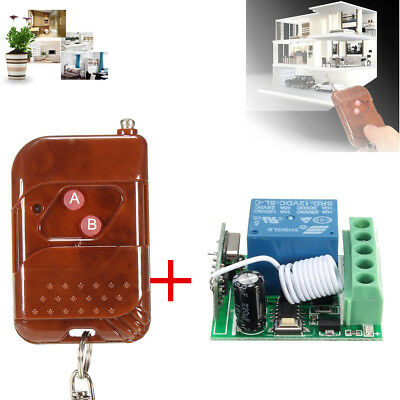 DC 12V 10A 1CH 433MHz Relay Wireless RF Remote Control Switch Receiver With Tran