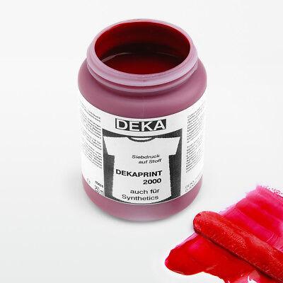 250ml DEKAPRINT Siebdruckfarbe Weinrot   Siebdruck   Textildruckfarbe für Stoff