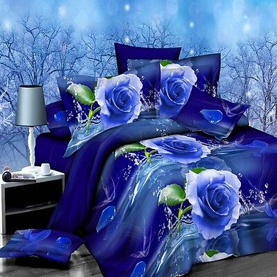 2017 4Pcs Set 3D Brushed Printed Duvet / Quilt Cover Bedding Queen King Size US