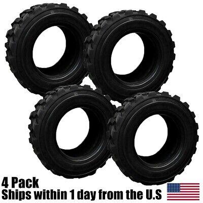 4 12ply 12-16.5 Skid Steer Loader Tires Fits Bob-cat Cat Case Deere