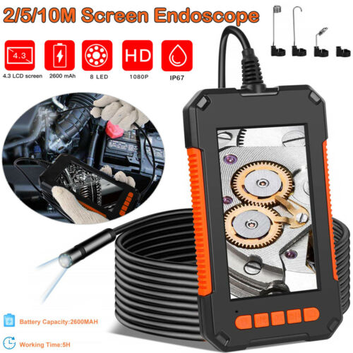 """Industrial Endoscope Camera 1080P HD 4.3"""" Screen Borescope Inspection Camera US Business & Industrial"""