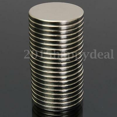 20pcs N52 Grade 20mm x 2mm Disc Rare Earth Neodymium Super Strong Magnets