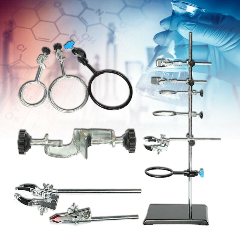 US 60cm Laboratory Stands Support & Lab Clamp Flask Clamp Condenser Clamp Holder