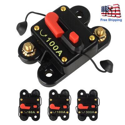 New Car Audio Circuit Breaker Amp Amplifier Auto Fuse Blow 60100300 Amp Dc 12v