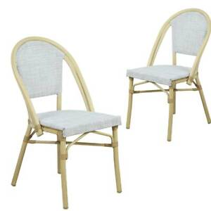 Morris White Natural French Flair Outdoor Dining Chair Set