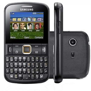 Samsung Chat 222 - Black Simfree Dual sim BRAND NEW Mobile Phone