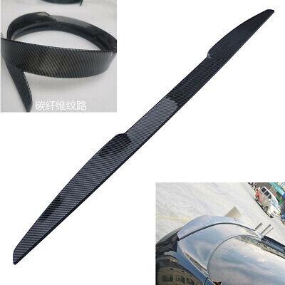 Universal 99cm Car Rear Spoiler Roof Tail Wings Lip Trim PU Carbon Fiber Color