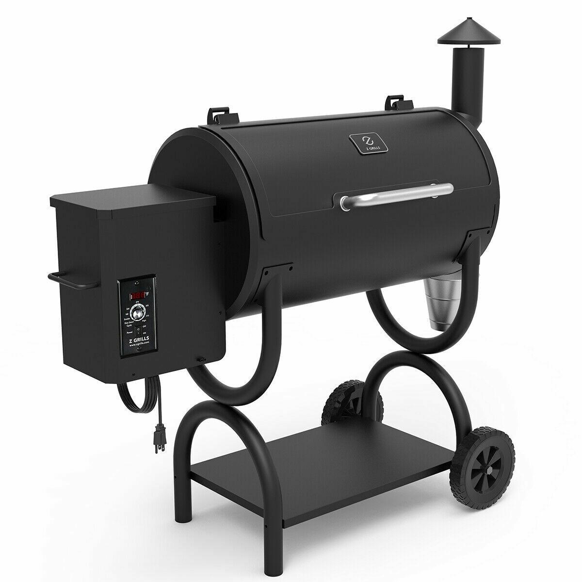 Z Grills ZPG-550B Wood Pellet Grill BBQ Smoker 7 in 1 Electr