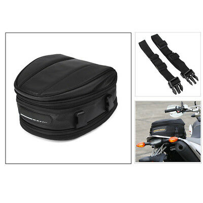 Motorcycle Rear  Seat Back Saddle Helmet Pack Waterproof Carry Bag oxford cloth