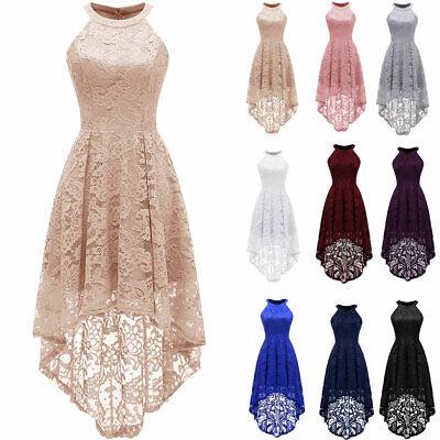 Women's Halter Maxi Lace Dress Hemline Wedding Bridesmaid Formal Dresses - Special Occasion