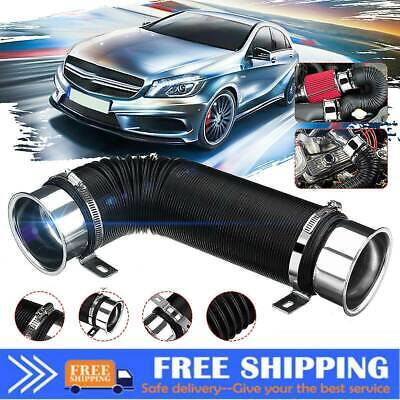 76mm 3'' In Cold Air Intake Feed Flexible Duct Pipe Hose Induction Kit Filter