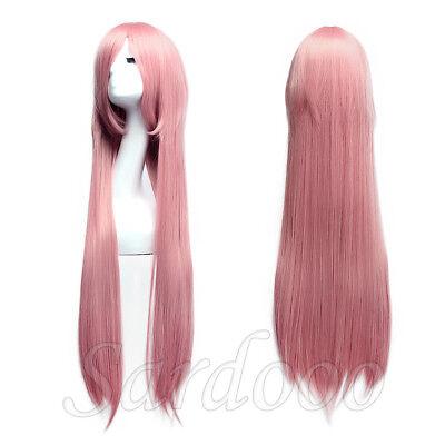 Perücke Pink Rosa 100cm lang für Cosplay Schaufensterpuppen Karneval oder Party