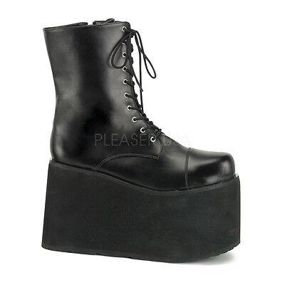 Black Platform KISS Gene Simmons Tribute Band Boots Costume Shoes Mens 9 10 11 - Kiss Band Costume