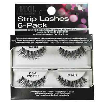 6 Pack Refill Kit Ardell Strip Lashes Demi Wispies black Free (Lashes 6 Pack Refills)