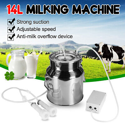 14l Electric Farm Milking Machine Vacuum Pump Stainless Steel Goat Sheep