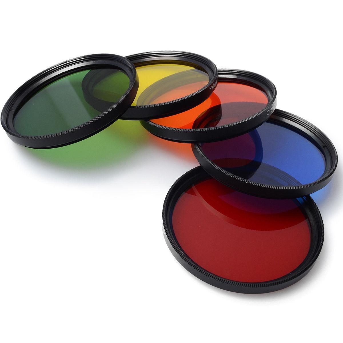 объектив фотоаппарата с цветным стеклом вновь осень