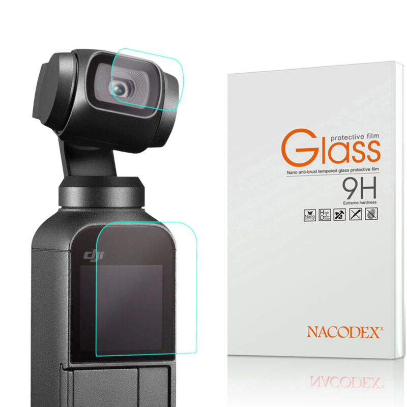 Nacodex For DJI Osmo Pocket Camera (Lens + Screen) Tempered Glass Screen Protect